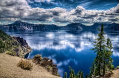 Crater Lake, Oregon.  by Steve Steinmetz.