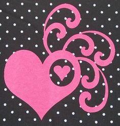 Velours strijk applicatie roze Swirl hart, 12 x 10.6 cm  #DIY