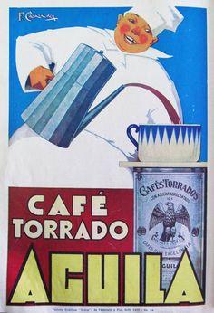 Café AGUILA. Publicidad argentina de 1931.
