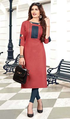 Salwar Neck Designs, Kurta Neck Design, Tunic Designs, Sari Blouse Designs, Dress Neck Designs, Kurta Designs Women, Stylish Dress Designs, Stylish Dresses, Casual Dresses