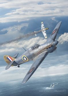 Ww2 Aircraft, Military Aircraft, War Thunder, Aircraft Painting, Ww2 Planes, Battle Of Britain, Nose Art, Royal Air Force, Aviation Art