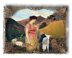 """""""Pastoral Scene"""" by lovetodrinktea ❤ liked on Polyvore featuring art"""
