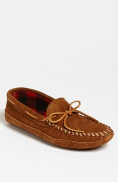 Minnetonka Suede Moccasin available at #Nordstrom