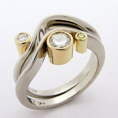 Hand Made and Hammer Forged Recycled 18k gold by DanielSommerfeld, $6516.84