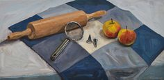 Preparing the apple pie! Still life, oil paint on canvas. 2017. www.brimbrom.com