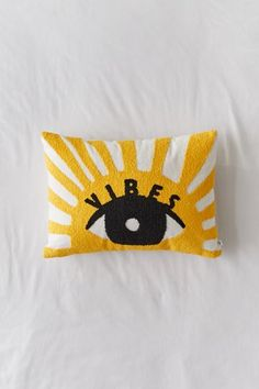 "Set the mood for sunny vibes in your space with this graphic tufted throw pillow featuring a vivid motif we love.Content + Care. 100% Cotton; polyester fill Spot clean Imported Size. Dimensions: 14""l x 20""w Yellow Throw Pillows, Apartment Essentials, Apartment Goals, Home Decor Sale, Stylish Beds, Wall Art For Sale, Bolster Pillow, Duvet Sets, Decoration"