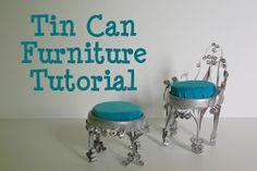 The Busy Bug Life: Tutorial: Tin Can Dollhouse Chair