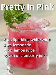Liquor Drinks, Cocktail Drinks, Cocktail Recipes, Beverages, Pink Alcoholic Drinks, Alcoholic Shots, Alcoholic Desserts, Pink Drinks, Alcoholic Punch