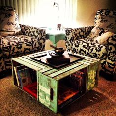 Repurposed Crate Coffee Table by StephaniesApartment on Etsy, $160.00