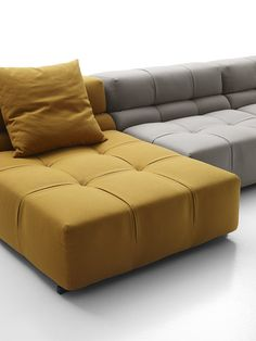 Sectional modular #sofa TUFTY TIME '15 by B&B Italia #yellow @bebitalia