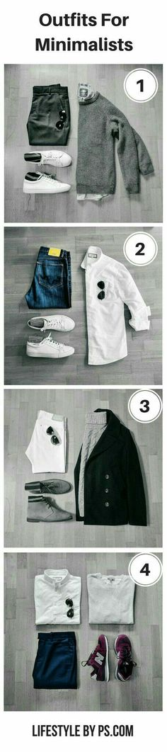 5 Outfit Grids For Minimalists is part of Minimalist fashion men - Look sharp with fewer clothes Mens Fashion Blog, Look Fashion, Fashion Tips, Fashion Trends, Fashion Check, Fashion Ideas, Choice Fashion, Fashion Menswear, Fashion 2016