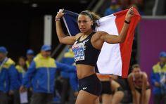 La Française Cindy Billaud, 2e du 100 m haies aux Championnats d'Europe, le 13 août 2014 à Zurich.