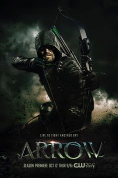 Stephen Amell as Oliver Queen/Green Arrow in Arrow Series Poster, Series Dc, Arrow Dc Comics, Arrow Comic, Arrow Serie, Arrow Tv Series, David Ramsey, Arrow Poster, The Cw