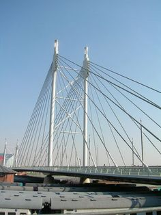 Post the best your country has to offer Matadi Suspension Bridge (also referred to as Pont Marechal, Completed in lanes and African Love, Have A Nice Trip, Pedestrian Bridge, Exotic Places, Nelson Mandela, Continents, South Africa, Building Bridges, Live