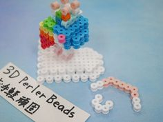 2017_1103_150005p1170699 3d Perler Bead, Perler Beads, Crochet Necklace, Christmas Ornaments, Holiday Decor, Paper, Projects, Crochet Collar, Christmas Jewelry