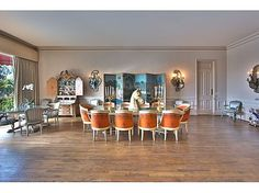 """table & chairs Zsa Zsa Gabor's """"Argo"""" Mansion"""