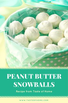These creamy treats are a nice change from the typical milk chocolate and peanut butter combination. This recipe is also an easy one for children to help with. I prepared the snowballs for a bake sale at my granddaughter's school and put them in gift boxes I share with neighbors at Christmas. —Wanda Regula, Birmingham, Michigan