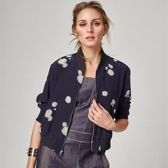 742fcb3a57 Who made Olivia Palermo s denim jumpsuit and print jacket