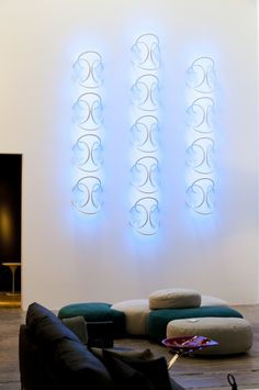 Amazing lighting--called Wallpiercing by Flos.