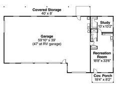Ranch Garage Plan 49023   Garage plans, Ranch and Garage apartments