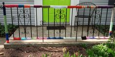 Yarn-Bombed Garden Fence will add great curbside appeal.