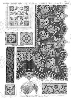 Filet Crochet, Crochet Borders, Crochet Stitches, Knit Crochet, Embroidery Patterns Free, Lace Patterns, Knitting Patterns Free, Baby Knitting, Crochet Patterns