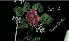 Embroidery Flowers Pattern, Cross Stitch Embroidery, Flower Patterns, Prayer Rug, Baby Knitting Patterns, Blackwork, Needlework, Dandelion, Diy Crafts