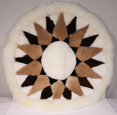 Alpaca Fur Rug- Brown- Sun Design- Handmade- Peru by ThisandThatLLC on Etsy Fur Rug, Sun Designs, Room Rugs, New Room, Vanilla Cake, Peru, Brown, Unique Jewelry, Handmade Gifts