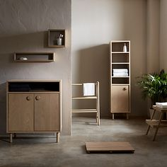 Beautifully proportioned in solid ash and veneers, this Scandinavian inspired bathroom range celebrates the pale woods, simple geometry and natural practicality of Nordic design. Each piece is coated in a water resistant lacquer to ensure its longevity in the damp and humid bathroom environment.
