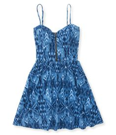 Ikat Fit & Flare Dress - Aeropostale