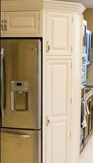 Angled Pantry Cabinets Allow For Storage And No Sharp