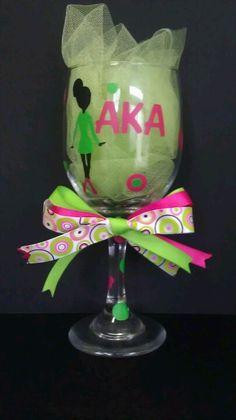 AKA wine glass. Would make a nice gift for a Soror