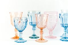 Pink and Blue Goblets