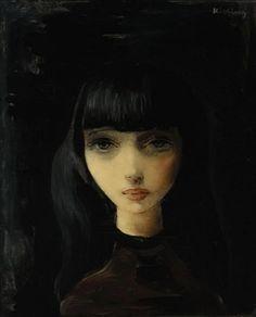fleurdulys:  Female Portrait - Moise Kisling 20th century