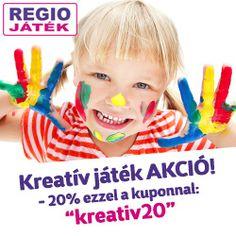Regió, -20% kreatív játékokra