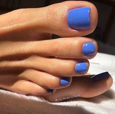 138 most amazing summer nail color 2019 page 48 Nageldesign Manicure Y Pedicure, Gel Nails, Blue Toe Nails, Acrylic Nails, Opi Blue Nail Polish, Shellac Nail Colors, Blue Toes, Coffin Nails, Mani Pedi