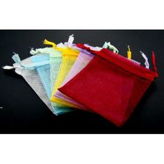 12 assorted organza pouches Case of 3