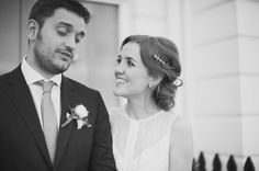 Anna and Ian: Chic Clerkenwell London Wedding, The Peasant, Bride and Groom, http://www.candidandfrankphotography.com