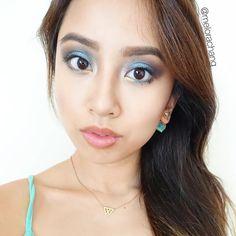Aqua makeup look