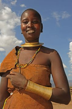 Woman of the Datoga (Tatoga) tribe - Tanzania