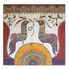 Batik Cotton Wall Hanging - Song for the New Day | NOVICA