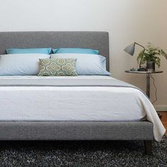 Kasala - Miro Bed. Low profile fabric bed I've been looking for, wonder if it comes in other colors #kasalacontest