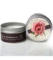 Margot Elena Tokyo Milk Gin and Rosewater Crushed and Distilled Tin Travel Candle Delightful Fragrance 4 Ounce Harlem, Mona Lisa, Tokyo Milk, Aromatherapy Candles, Rose Water, Gin, Lotion, Crushes, Fragrance
