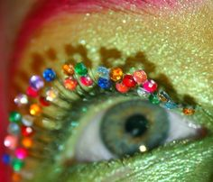 I love to bedazzle, but I don't think I could ever bedazzle my eyelashes...