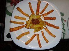 Fotorecept: Zelerové hranolky s chilli