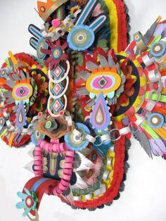 paper sculptures by Michael Villette