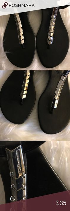 BCBG Thong Black Sandal Sz 8.5 Pre Owned BCBGeneration Women's Black Jasper Wedge Thong Sandals Sz8.5 ,Similar products also available. SALE now on! Images may be subject to copyright. BCBGeneration Shoes Sandals