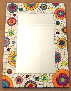 Mosaic Pots, Mirror Mosaic, Mosaic Diy, Mosaic Crafts, Mosaic Projects, Mosaic Wall, Mosaic Glass, Mosaic Tables, Stained Glass Birds