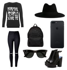 """""""Untitled #17"""" by anezka-majerova on Polyvore featuring WearAll, Yves Saint Laurent, Ray-Ban and Hogan"""