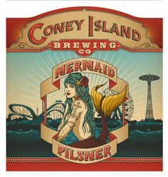 One Horse Town Illustration Studio Cape Town, South Africa Coney Island Brewing Co. on Behance